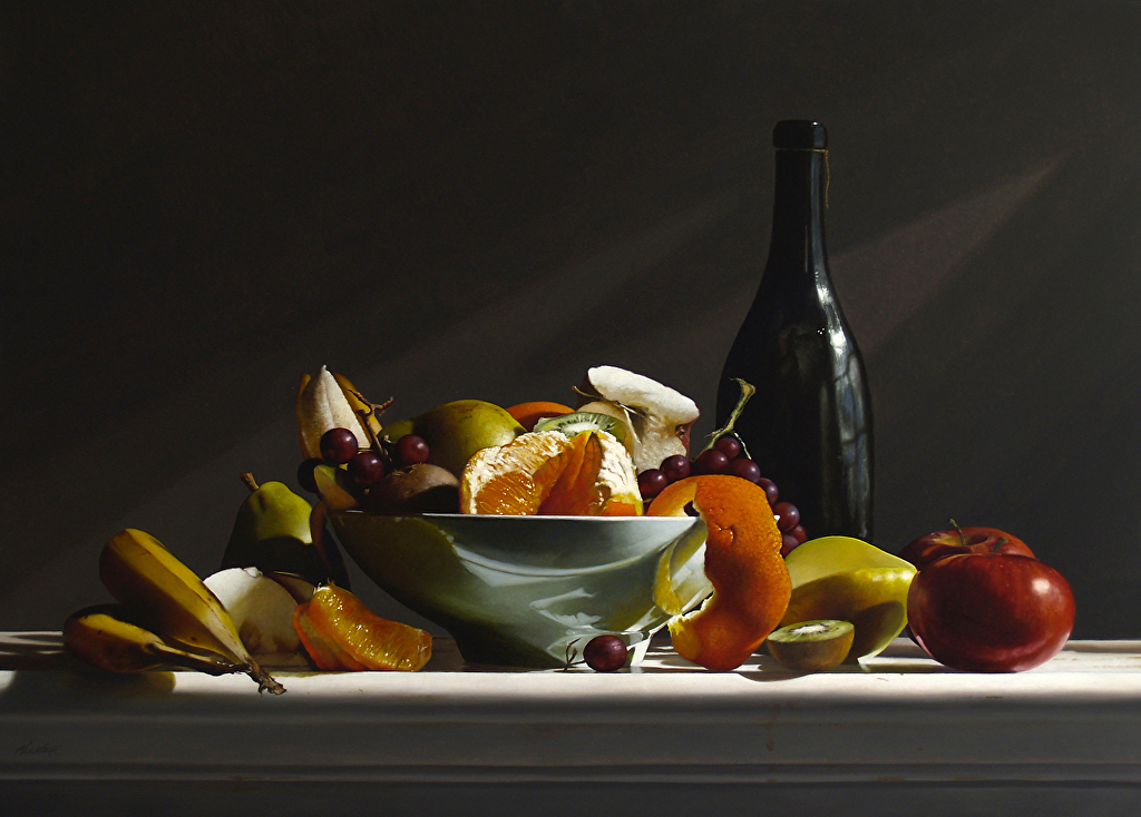 Lawrence Preston Fruit Bowl No 3 Oil Painting Entry May 2014
